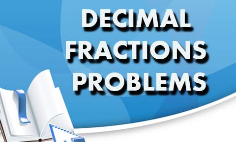 decimal fractions problems