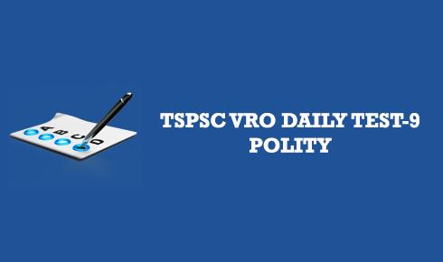 TSPSC VRO DAILY TEST 9