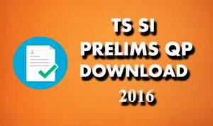 ts si prelims question paper 2016
