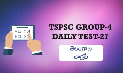 TSPSC GROUP-4 DAILY TEST 27