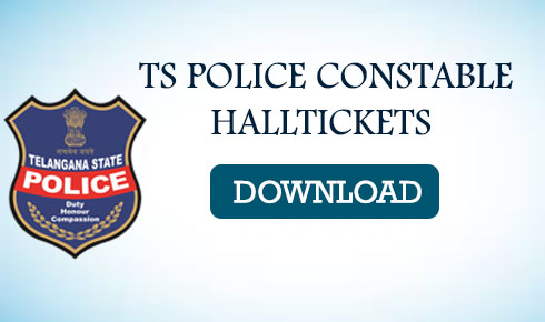 TS POLICE CONSTABLE HALLTICKETS