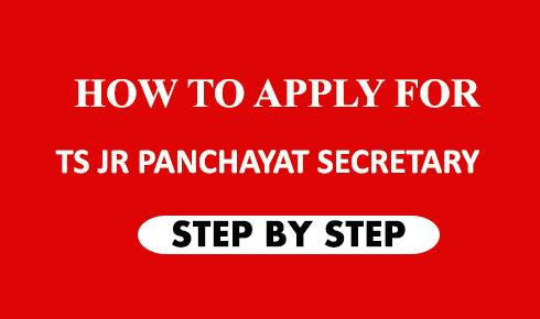 HOW TO APPLY FOR TS JUNIOR PANCHAYAT SECRETARY JOB