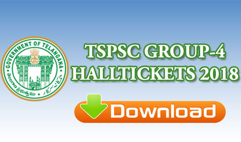 TSPSC GROUP-4 HALLTICKETS 2018
