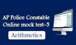 AP Police Constable Online mock test-5