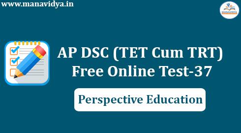 AP DSC (TET Cum TRT) Free Online Test-37