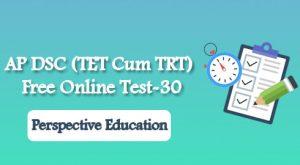 AP DSC (TET Cum TRT) Free Online Test-30