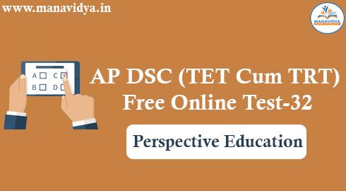 AP DSC (TET Cum TRT) Free Online Test-32