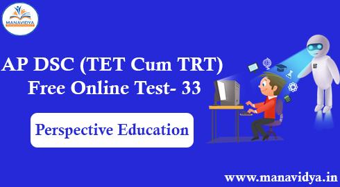 AP DSC (TET Cum TRT) Free Online Test- 33