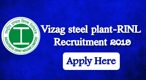 Vizag steel plant-RINL Recruitment 2019