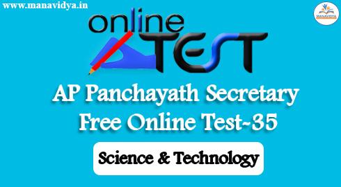AP Panchayath Secretary Free Online Test-35