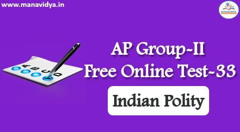 AP Group-II Free Online Test-33