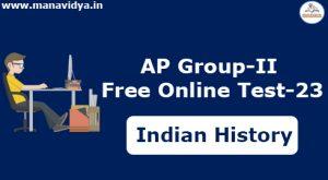 AP Group-II Free Online Test-23