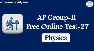 AP Group-II Free Online Test-27