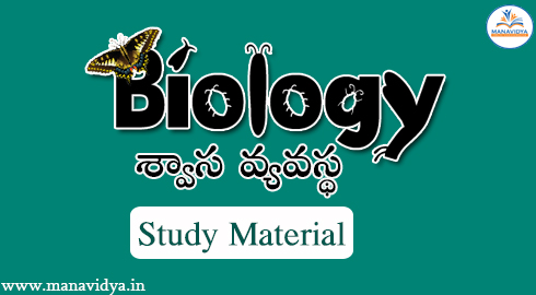 Biology-Respiratory System Study Material by Manavidya