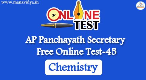 AP Panchayath Secretary Free Online Test-45