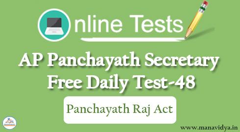 AP Panchayath Secretary Free Daily Test-48
