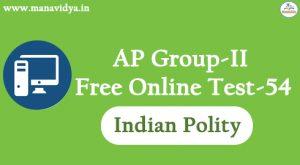 AP Group-II Free Online Test-54