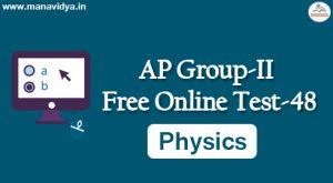 AP Group-II Free Online Test-48