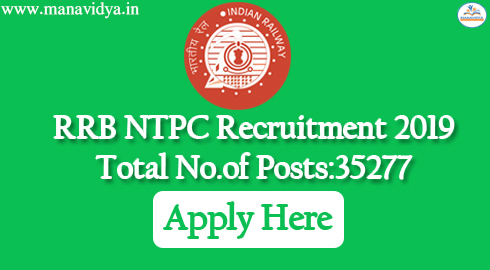RRB Recruitment 2019-For 35277 NTPC Graduates & Under Graduates posts @rrbsecunderabad.nic.in