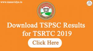 Download TSPSC Results for TSRTC 2019